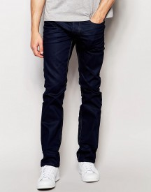 Jack & Jones Intelligence Regular Straight Fit Jeans In Blue afbeelding