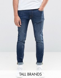 Jack & Jones Intelligence Skinny Jeans In Mid Blue Wash afbeelding