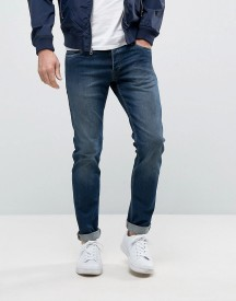 Jack & Jones Intelligence Slim Fit Jeans In Dark Blue Wash afbeelding