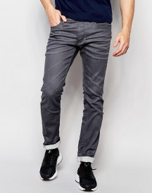 Jack & Jones Intelligence Slim Fit Jeans In Grey afbeelding