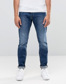 Jack & Jones Intelligence Slim Fit Jeans In Mid Blue Wash afbeelding