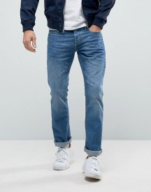 Jack & Jones Intelligence Straight Fit Jeans In Light Blue Wash afbeelding