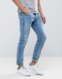 Jack & Jones Intelligence Vintage Wash Jeans In Slim Fit With Stretch afbeelding