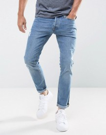 Jack & Jones Jeans In Slim Fit With Rip Repair Detail afbeelding