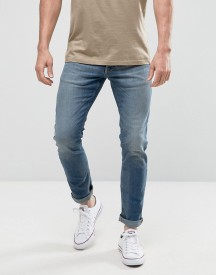 Jack & Jones Intelligence Slim Fit Jeans In Light Blue Denim afbeelding