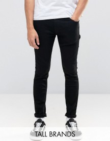 Jack & Jones Tall Intelligence Skinny Jeans In Black afbeelding