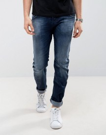 Jack & Jones Twist Jeans In Blue Wash afbeelding