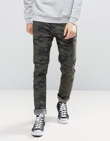 Kubban Skinny Jeans In Camo afbeelding