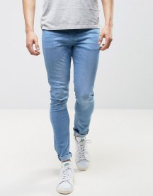 Ldn Dnm Spray On Jeans In Washed Blue afbeelding