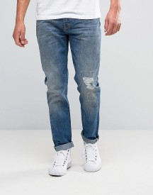Lee Arvin Tapered Jeans Blue Blast Distressed afbeelding