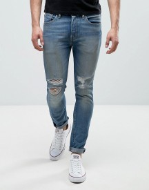 Levis 501 Skinny Bad Boy Wash Busted Knees afbeelding