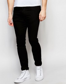 Levi's Jeans 519 Super Skinny Fit Stretch Darkness Black afbeelding