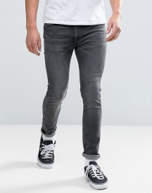 Levis Line 8 Skinny Jeans In Worn Out Black afbeelding