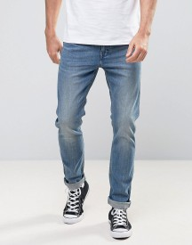 Levis Line 8 Slim Unisex Jeans In Blue Mid Authentic afbeelding