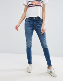Levi's Orange Tab 721 Vintage High Waist Skinny Jeans With Abrasions afbeelding