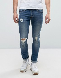 Loyalty And Faith Distressed Skinny Stretch Ripped Dylan Jeans In Midwash afbeelding
