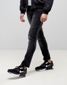 Loyalty And Faith Hayden Skinny Biker Jeans In Black afbeelding