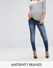 Mamalicious Mid Wash Skinny Jeans afbeelding