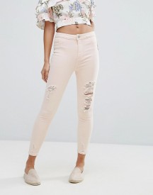 New Look Distressed Knee Skinny Jean afbeelding