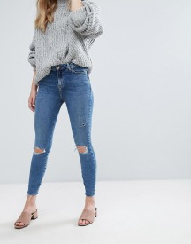 New Look Shaper Frayed Hem Skinny Jeans afbeelding