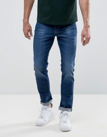 New Look Slim Jeans In Dark Blue Wash afbeelding