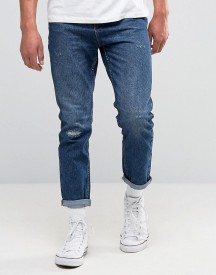 New Look Slim Tapered Jeans In Mid Wash Blue afbeelding