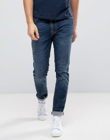 Nudie Jeans Co Lean Dean Jean Dark Worn Navy Wash afbeelding