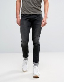 Nudie Jeans Co Long John Jean Black Blizzard Wash afbeelding