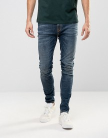 Nudie Pipe Led Super Skinny Jeans Iron Blue afbeelding