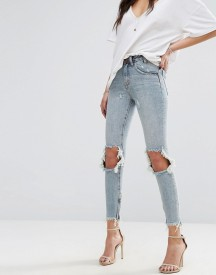 One Teaspoon Freebird Highwaist Crop Jean With Rips And Raw Hem afbeelding