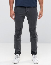 Only & Sons Biker Jeans In Slim Fit afbeelding
