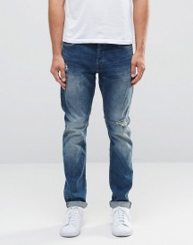 Only & Sons Rip & Repair Slim Fit Jeans With Stretch afbeelding