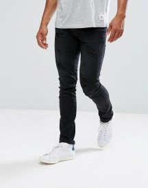 Only & Sons Skinny Fit Jeans With Heavy Distressing afbeelding