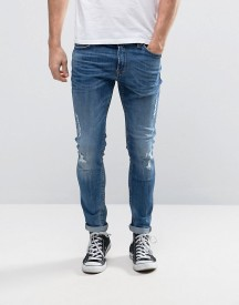 Only & Sons Skinny Fit Jeans With Rip Repair Detail afbeelding