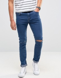 Only & Sons Skinny Jeans With Knee Rip afbeelding