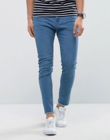 Only & Sons Skinny Light Blue Jeans With Raw Edge afbeelding