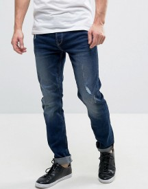 Only & Sons Slim Fit Jeans In Dark Blue Denim afbeelding