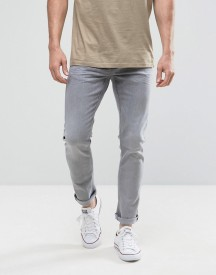 Only & Sons Slim Fit Jeans In Washed Grey Denim afbeelding
