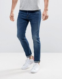 Only & Sons Slim Fit Stretch Jeans In Medium Blue Wash afbeelding