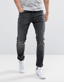 Only & Sons Slim Fit Stretch Jeans In Washed Black afbeelding
