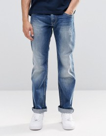 Pepe Hatch Slim Jeans E64 Mid Blue Distressed afbeelding