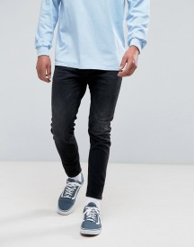 Pull&bear Skinny Carrot Fit Jeans In Black afbeelding