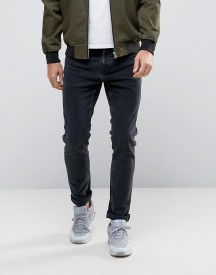 Pull&bear Slim Jeans In Washed Black afbeelding