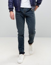 Pull&bear Slim Jeans In Washed Indigo afbeelding