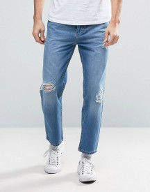 Religion Rehab Ripped Jeans In Mid Blue afbeelding