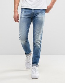 Replay 901 Tapered Fit Jean Broken Mid Wash afbeelding