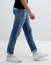 Replay Grover Straight Fit Jeans Light Wash Abrasions afbeelding