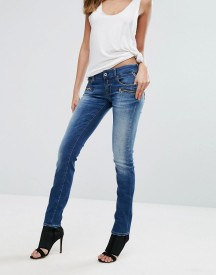 Replay Mid Rise Biker Jeans With Zip Pockets afbeelding