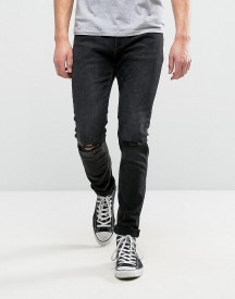 Rollas Thin Captain Slim Fit Jeans Snake Black afbeelding