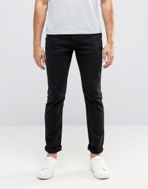 Selected Homme Black Jeans With Stretch In Slim Fit afbeelding